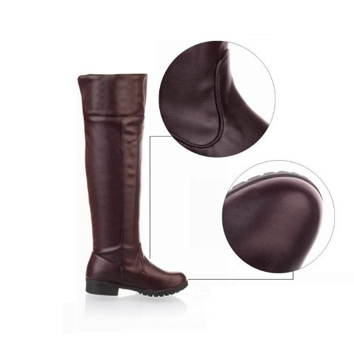 10-size-Yes-all-two-colors-cosplay-Attack-on-Titan-Scouting-Legion-long-boots-shoes-of-my-Brown-Brown-235cm-37-cafe-japan-import-0