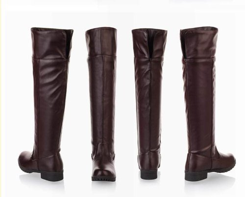 [10 size Yes all two colors] cosplay Attack on Titan Scouting Legion long boots shoes of my [Brown / Brown] [23cm / 36 / cafe] (japan import)