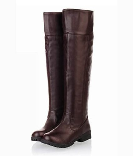 [10 size Yes all two colors] cosplay Attack on Titan Scouting Legion long boots shoes of my [Brown / Brown] [24cm / 38 / cafe] (japan import)