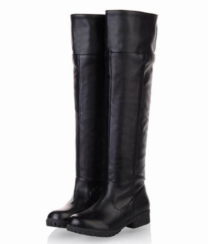 [10 size Yes all two colors] cosplay Attack on Titan Scouting Legion long boots shoes of my [black / black] [25cm / 40 / bk] (japan import)