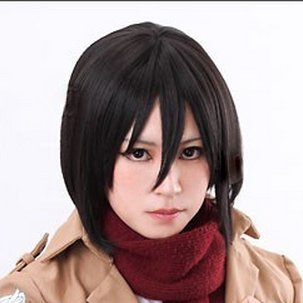 3-piece set! Giants advance costume One World Shop original set of products 4295 Mikasa Ackerman heat cosplay wig + net + stand advance (japan import)