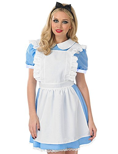 3Tlg. Karneval Fasching Kostuem Damenkostuem Alice in Wonderland Kostuem Fancy Dress Outfit Maid Cosplay