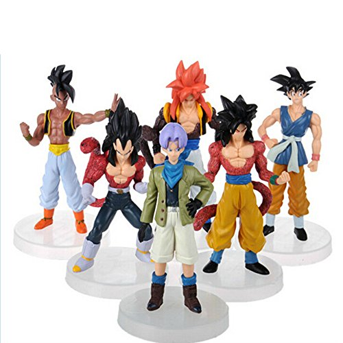 6x Anime Dragon Ball Figuren Dragon ball Z Charaktere PVC-Action-Figur 10cm -12 cm