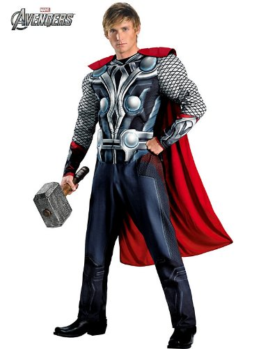 AVENGERS – ASSEMBLE ~ Thor Deluxe – Adult Costume Men : X LARGE