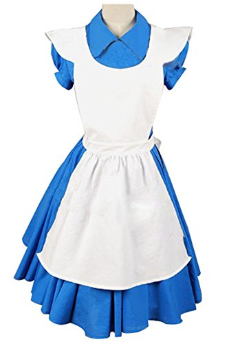 Alice In Wonderland Movie Blue Alice Dreß Kleid Cosplay Kostüm
