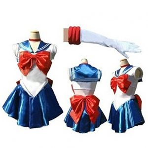 Anime Sailor Moon Cosplay Costume Roleplay Kleidung Halloween-Kostüm Geburtstagsfeier Party Kostüm Weihnachtsfeier Kostüm Karnevalskostüm Kreative Persönlichkeit Leistung ung Kostüm