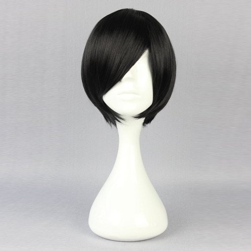 Death Note Lawliet Black Wig Cosplay Hair Wig Anime Wig 11.8″ 30cm