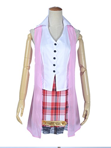 Anime Wig Cosplay Costume Final Fantasy 13 Serah¡¤Farron Anime Suit Costume