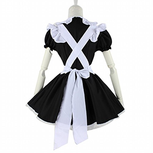 Heart-shaped Maid Outfit Style Cosplay Costume Lolita White Mixed Black Lady