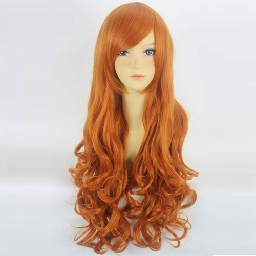 "Anime Wig One Piece Nami Anime Cosplay Orange 80cm 31"" Long Curly Fashion Party Hair Wig"