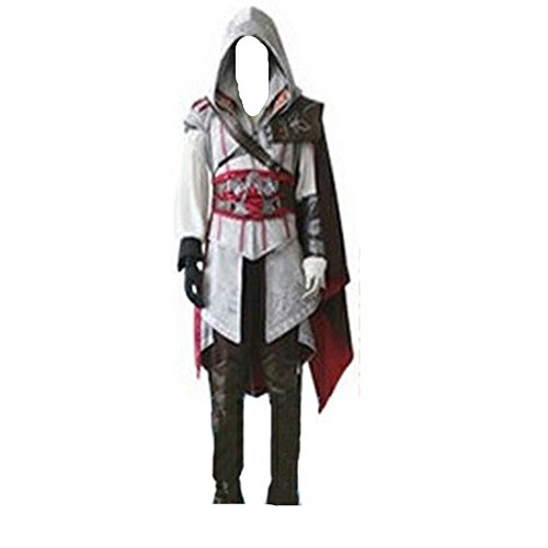 Assassin's Creed 2 II Ezio Weiss Anime Cosplay Kostuem