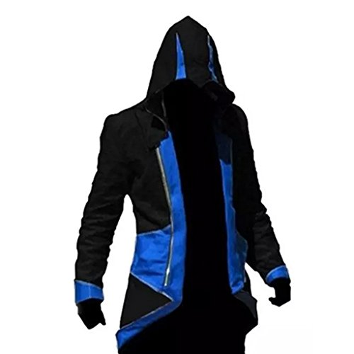 Assassin's Creed 3 Connor Kenway Hoodie Mantel Cosplay M Rot