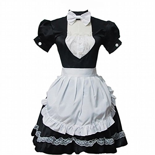 Cosplay Costume Lolita Lace Princess Dress Black And White Maid Costume