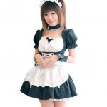 Cosplay-Events-maid-set-black-apron-with-Katyusha-cuffs-and-cute-elegant-japan-import-0