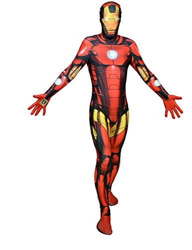 Digitaler Morphsuit Deluxe Iron Man Karneval Fasching Mottoparty Kostüm