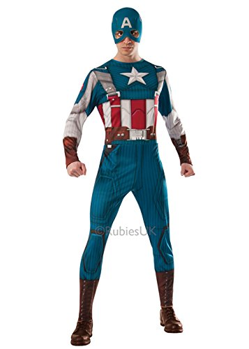 Erwachsene Retro Captain America Kostüm Kostüm XL (44-46″ Chest)