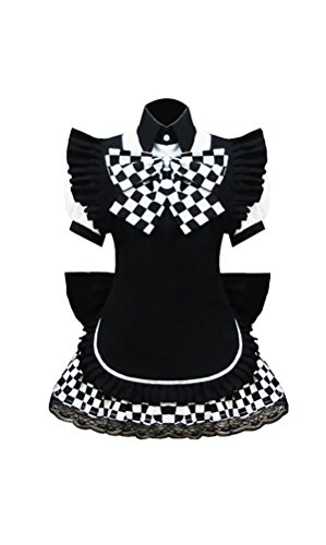 Haiyoru! Nyaruani Nyaruko Girl Cosplay Uniform Black Mixed checked Dress Costume
