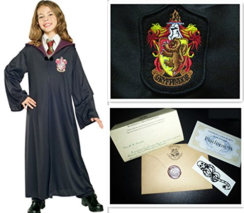 Harry Potter Jugend Erwachsene Robe Umhang Gryffindor Fancy Dress Party Cosplay S M XL