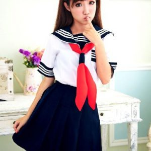 [Kost?m] Uniform Cosplay Schuluniform uniform Sommerkleidung kurze ?rmel Gr??e M (Japan-Import)