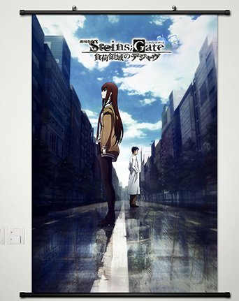 Anime Steins;Gate Cosplay Wall Scroll Poster Fabric Painting Makise Kurisu 23.6 X 35.4 Inches-065 by CoSmile