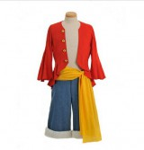 One-Piece-Monkey-D-Ruffy-Cosplay-2-Jahre-spter-Monkey-D-Luffy-Kostm-Kombination-Gre-XL-173-177cm70-80-kg-0-0