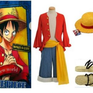 One-Piece-Monkey-D-Ruffy-Cosplay-2-Jahre-spter-Monkey-D-Luffy-Kostm-Kombination-Gre-XL-173-177cm70-80-kg-0