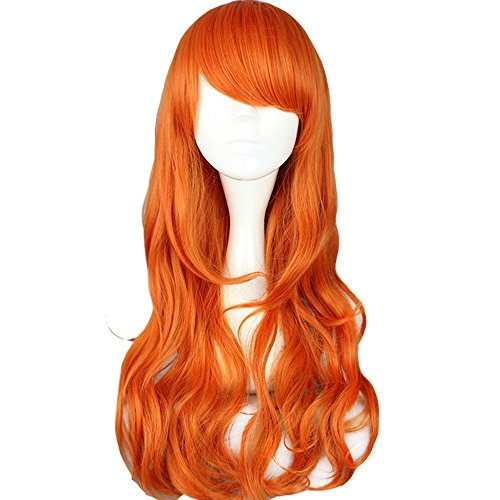 STONG One Piece NaMi Curly Style Orange Women Lady Anime Synthetic Cosplay Hair