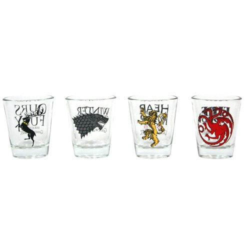 [UK-Import]Game of Thrones Set of 4 Shot Glasses