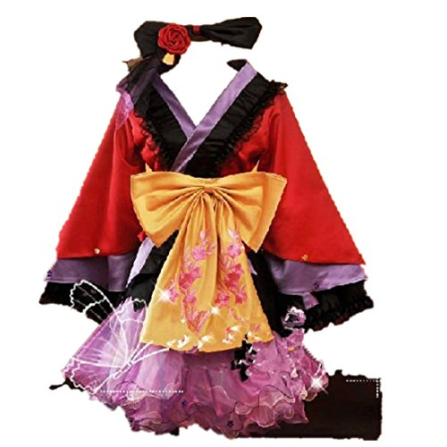 Vocaloid Lolita Megurine Luka Ruka Japan Kimono Cosplay Kostuem Dress
