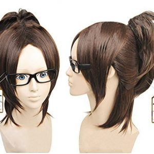 2013 Wig Attack on Titan Shingeki No Kyojin Hanji Zoe Dark Brown Cosplay Wig by Anogol