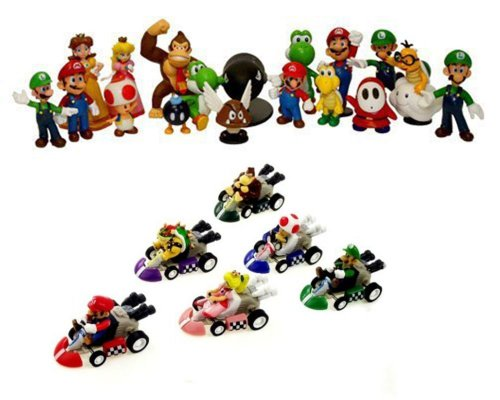 24 Nintendo Super Mario Kart Figur Figuren SET ca. 5cm OPTIMAL FÜR ADVENTSKALENDER OVP Wario Luigi aus n64 wii gameboy