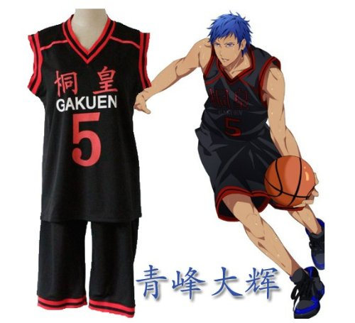 5 uniform top and bottom set M size Costuming basketball Tung Huang Gakuen high school Aomine Daiki uniform number of cosplay costume Kuroko (japan import)
