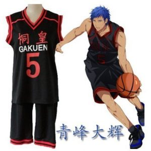 5 uniform top and bottom set M size Costuming basketball Tung Huang Gakuen high school Aomine Daiki uniform number of cosplay costume Kuroko (japan import) by LUGANO by LUGANO