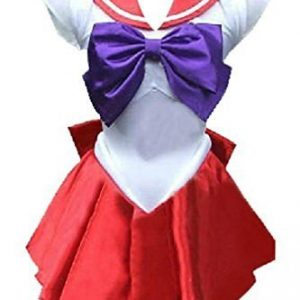 Amour- Deluxe Sailor Moon Mars Costume Cosplay Uniform Fancy party Dress & Gloves (M, AS04) by NA