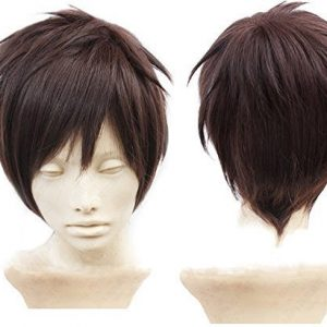 Anangelhair + Free Hair Cap Attack on Titan Eren Jaeger Dark Brown Anime Cosplay Wig by Anangel