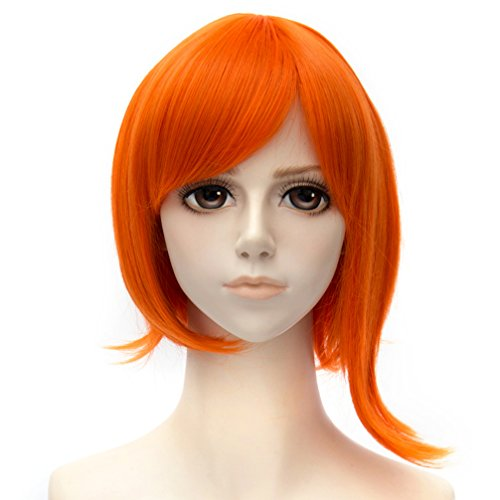 Anime Wig One Piece Nami Orange 35cm Short Hair Cosplay Wig +Wig Cap ¡­