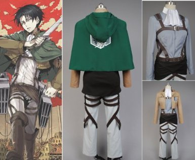 Attack on Titan Anime Levi Rivai Kombination, Größe XXL :(175-180cm)