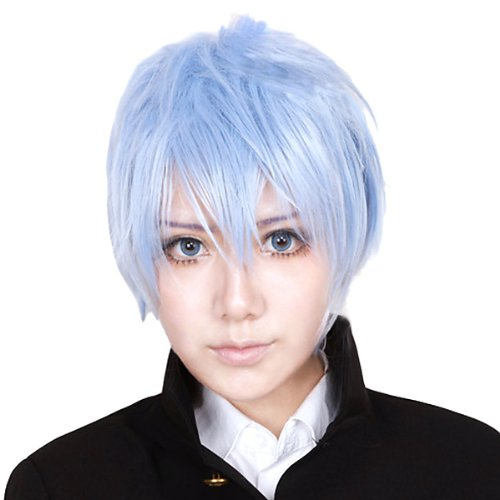 Basketball Kuroko Tetsuya ice blue light blue CaseEden original 4-piece set of [cosplay wig short 30cm heat-resistant high-quality Genuine] Kuroko (wig + Stand + hair net two) CaseEden (japan import)
