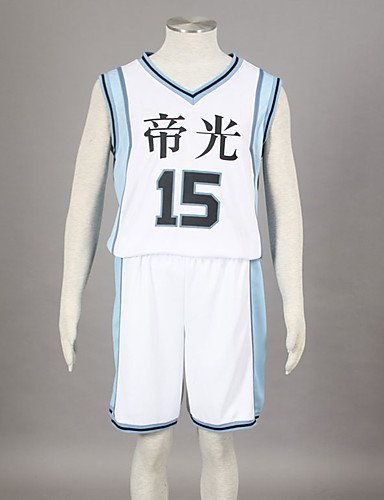 Ch&Ch Cosplay vom Basketball die Kuroko spielt kagami taiga Teiko middle school basketball team uniform white no.15 inspiriert