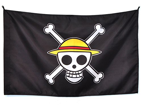 CoolChange One Piece Jolly Roggers Strohhut Flagge