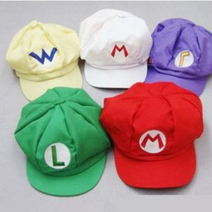 Cosplay-Hat-Cap-costume-of-Super-Mario-Luigi-Wario-Waluigi-wind-set-of-5-Ultra-luxury-japan-import-0