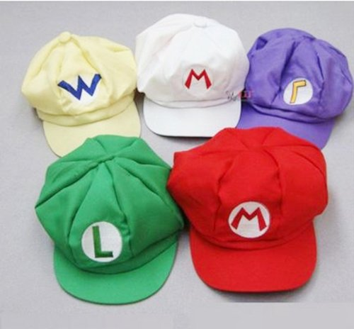 Cosplay Hat Cap costume of Super Mario Luigi Wario Waluigi wind [set of 5! Ultra-luxury] (japan import)