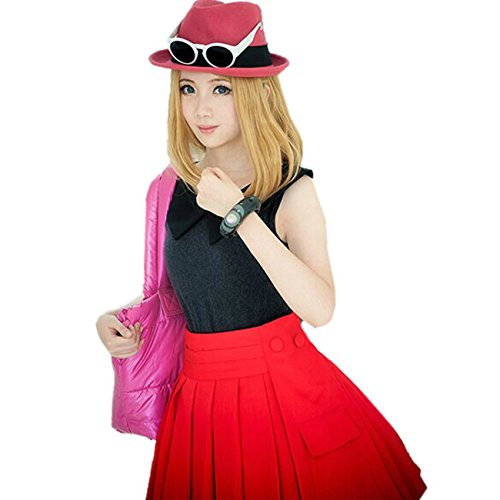 Customize Cosplay Kostüm Pokemon XY Serena Outfit including Hut Top Rock Socken