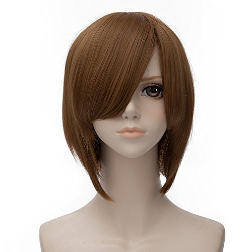 DEATH NOTE Yagami Light Brown Short 30CM Anime Cosplay Wig + Wig Cap
