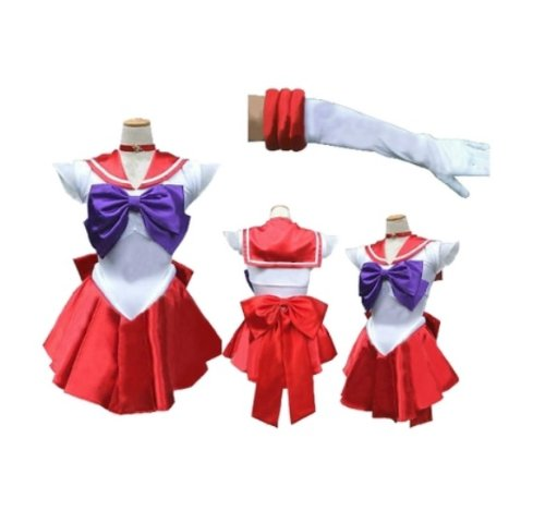 [Keine Marke Waren] super Narikiri! Sailor Mars-Stil Cosplay [L Groesse fuer den Seemann Mann] Kostuem Sailor Moon Anime Cosplay