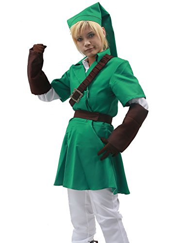 Link-Costume-Cosplay-Kompletter-Anzug-Green-Kostm-Kleidung-mit-Hut-Halloween-Karneval-Party-0
