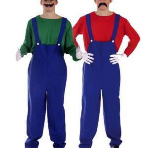 Mario and Luigi Kostüm Super Mario Bros Fancy Dress Costume Karneval Halloween