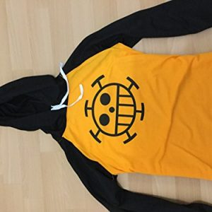 ONE-PIECE-cosplay-costume-one-piece-Trafalgar-Law-wind-long-sleeved-T-shirt-parka-M-mens-womens-japan-import-0