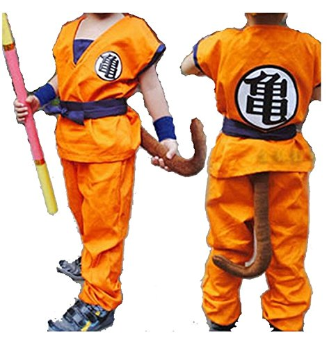 YUFAN ® Dragon Ball Z Son Goku Saiyan Cosplay Costume Kid Uniform