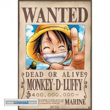 1art1-74245-One-Piece-Wanted-Monkey-D-Luffy-Mini-Poster-52-x-35-cm-0